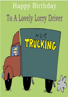 Lorry Driver - Greeting Card